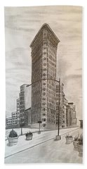 Flatiron Study Beach Sheet by Tony Clark