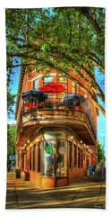 Flatiron Style Pickle Barrel Building Chattanooga Tennessee Beach Sheet by Reid Callaway