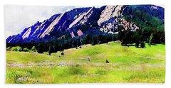 Flatirons - Boulder, Colorado Beach Towel