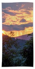 Beach Towel featuring the photograph Fleetwood Mountains by Tom Singleton