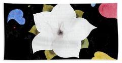 Fleur Et Coeurs Beach Sheet