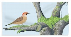 Flicker In The Apple Tree Beach Sheet