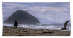 Flight From Morro Bay Beach Towel
