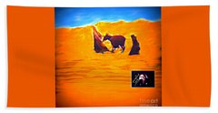 Beach Towel featuring the digital art Flight Into Egypt by Richard W Linford