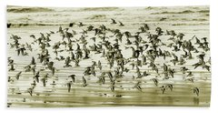 Beach Towel featuring the photograph Flight by Mary Jo Allen