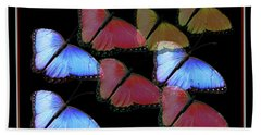 Flight Of The Butterflies Beach Sheet by Rosalie Scanlon