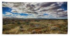 Beach Sheet featuring the photograph Flinders Ranges Fields  by Douglas Barnard