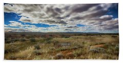 Flinders Ranges Fields  Beach Sheet by Douglas Barnard