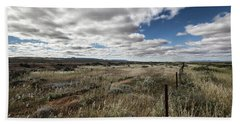 Beach Towel featuring the photograph Flinders Ranges Fields V2 by Douglas Barnard