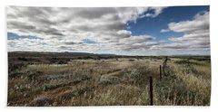 Flinders Ranges Fields V2 Beach Sheet by Douglas Barnard