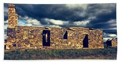 Beach Towel featuring the photograph Flinders Ranges Ruins V2 by Douglas Barnard