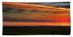 Beach Towel featuring the photograph Flint Hills Sunrise by Thomas Bomstad