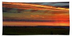 Beach Sheet featuring the photograph Flint Hills Sunrise by Thomas Bomstad