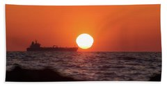 Floating Around The Sun Beach Towel