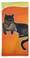 Beach Towel featuring the painting Floating Bebe by Denise Fulmer