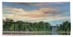 Floating Cranberries In Front Of Suningive Whitesbog Nj Beach Towel