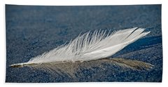 Floating Feather Reflection Beach Towel