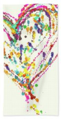 Floating Heart Beach Towel