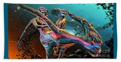 Floating In The Universe Beach Towel