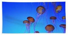 Floating Jellyfish Ballet Beach Sheet