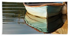 Beach Towel featuring the photograph Floating On Blue 44 by Wendy Wilton