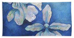 Floating Orchid Beach Towel by Shadia Derbyshire