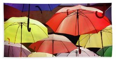 Floating Umbrellas Beach Towel