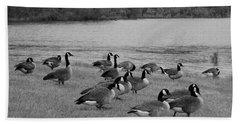 Flock Of Geese Beach Towel