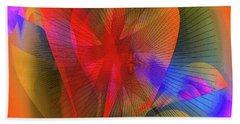 Floral #2 Beach Towel by Iris Gelbart