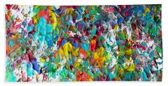 Floral Abstract 0715 Beach Towel
