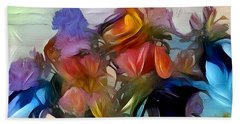 Floral Abstract Beach Sheet by Jim Pavelle