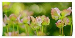 Floral Art Beach Sheet by Nick Boren