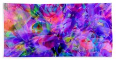 Floral Bouquet Abstract Beach Sheet by Carolyn Repka