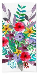 Just Flora Beach Towel