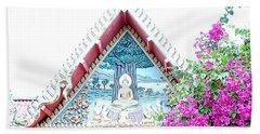 Floral Buddha Beach Towel by John Potts