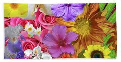 Floral Collage 01 Beach Towel