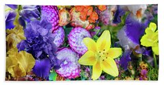 Floral Collage 02 Beach Sheet