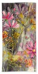 Floral Cosmos Beach Towel