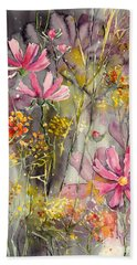 Floral Cosmos Beach Towel