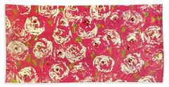 Floral Design Beach Towel