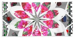 Floral  Design Beach Towel by Shirley Moravec