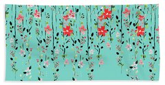Floral Dilemma Beach Towel