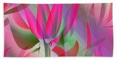 Floral Display 3 Beach Sheet by Iris Gelbart
