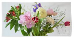 Beach Towel featuring the photograph Floral Display by Wendy Wilton