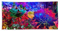 Floral Dream Of Summer Beach Towel