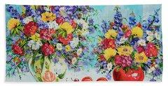 Floral Fantasy Beach Sheet by Alexandra Maria Ethlyn Cheshire