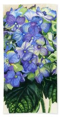 Beach Towel featuring the painting Floral Favorite by Barbara Jewell