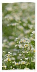 Floral Field #1 Beach Sheet