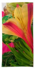 Floral Fusion Beach Towel