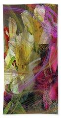 Floral Inspiration Beach Sheet by John Robert Beck